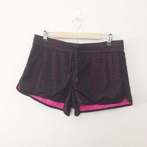 Athletic Works Layered Black Pink Shorts